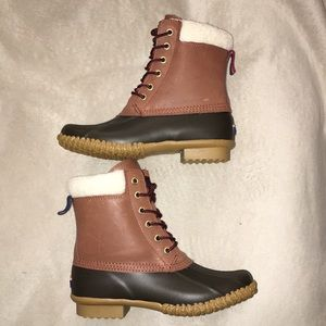 Tommy Hilfiger Brown Leather Duck Boots (Size 6)